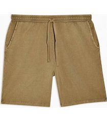 mens khaki wash jersey shorts