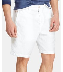 "polo ralph lauren men's 8.5"" straight-fit linen cotton chino shorts"