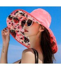protector solar salvaje para mujer, sombrero para el sol rojo