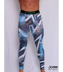 jogger lycra estampada de hombre -14008 - azul