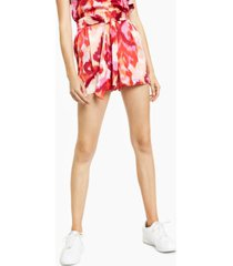 bar iii printed tie-front shorts, created for macy's
