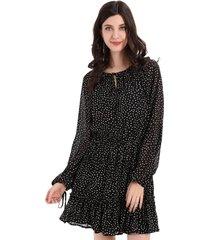 vestido lunares y amarras negro nicopoly