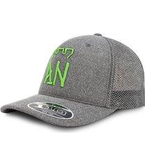 gorra atlético nacional oficial edición limitada premium flexfit malla gris