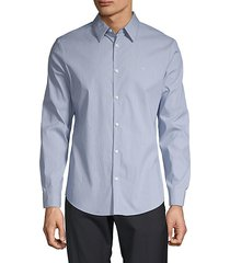 slim-fit stretch cotton button-down shirt