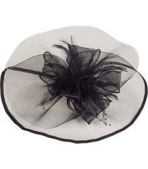 sombrero de plumas sombrero de damas sombrero de banquete de malla