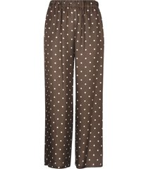 parosh dotted print straight trousers