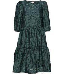 vijaga 3/4 dress /rx jurk knielengte groen vila