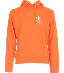 calvin klein jeans back mirrored monogram hoodie