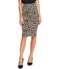vince camuto pull-on leopard-print skirt
