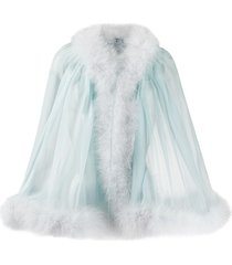 dolce & gabbana sheer tie cape - blue