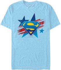 fifth sun dc men's superman stars logo short sleeve t-shirt