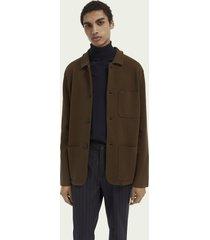 scotch & soda knitted cotton-blend blazer