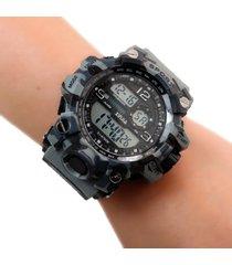 reloj militar digital gris dayoshop