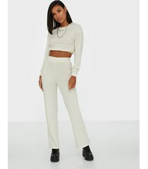 nly trend puff rib set jumpsuits offwhite