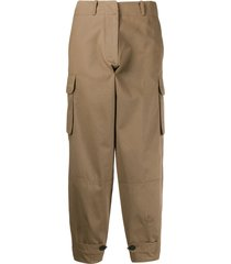antonio marras cropped loose-fit trousers - brown