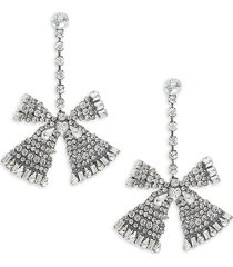 dannijo women's jean crystal bow earrings
