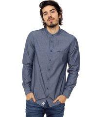 camisa azul tommy hilfiger inside hbone prt sf6