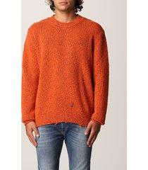 diesel sweater diesel pullover in mélange wool blend