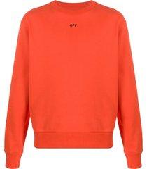 off-white stencil slim-fit sweatshirt - orange