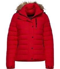classic faux fur fuji jacket fodrad jacka röd superdry