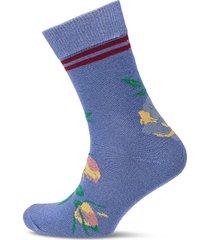 daphne sporty flower lingerie socks regular socks blå becksöndergaard