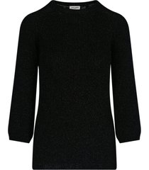 rib-knit lamé sweater
