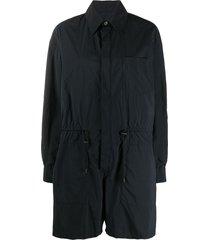 maison margiela drawstring waist playsuit - black