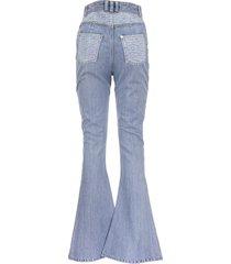balmain monogram-detail flared jeans