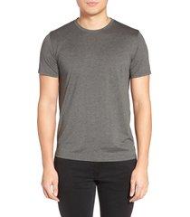 men's theory silk & cotton crewneck t-shirt, size medium - black