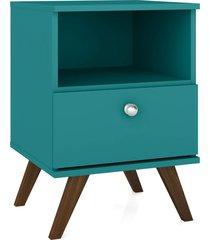 mesa de cabeceira c/ 1 turquesa gaveta mã³vel bento azul - azul - dafiti