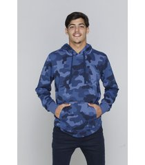 buzo azul rever pass hoodie camuflado