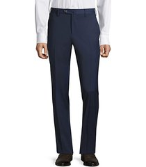 traveler flat-front techno wool trousers