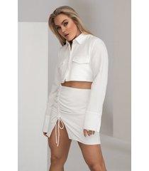 angelica blick x na-kd kjol - white