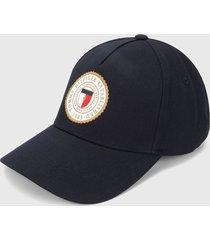 gorra azul-blanco-dorado tommy hilfiger