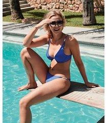 hunkemöller rio monaco bikiniunderdel vivian hoorn blå