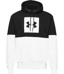 sportstyle pique fleece hood hoodie trui multi/patroon under armour
