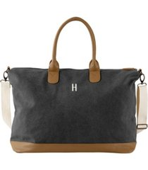 cathy's concepts personalized washed canvas weekender tote