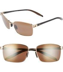 maui jim cove park 60mm polarizedplus2(r) sunglasses in gold w/black temples at nordstrom