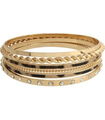 jessica simpson leopard mixed bangle bracelet, set of 6