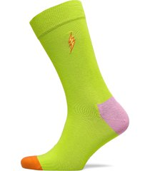 embroidery flash sock underwear socks regular socks grön happy socks