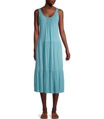 calvin klein women's sleeveless tiered dress - mykonos - size 10
