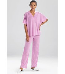 congo dolman pajamas, women's, purple, size m, n natori