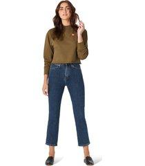 women's wrangler love dreams good jeans crop sweatshirt, size x-small - green