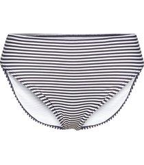 mini stripe high waistd bikini bottom bikinitrosa blå michael kors swimwear