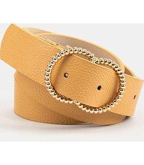 women's jazmine twisted double circle belt in tan by francesca's - size: m