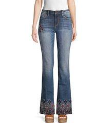 embellished flared jeans