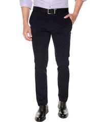 pantalón pana los masculino azul oscuro los caballeros