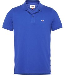 polo slim fit classics solid stretch azul tommy jeans