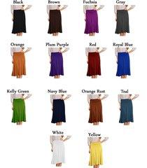 dbg women's short maxi midi flare skirt