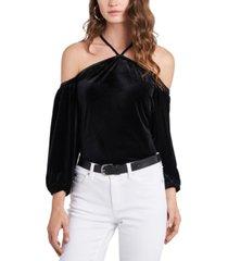 1.state velvet off-the-shoulder top